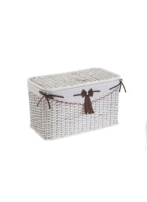 Kanca Ev Çamaşır Sepeti Beyaz